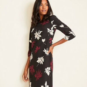 Only One Left Ann Taylor Floral Sleeve Shift Dress